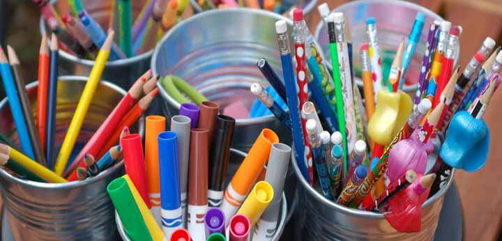 مداد رنگی و ماژیک
