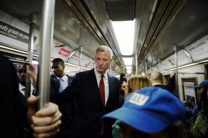 شهردار نیویورک در مترو