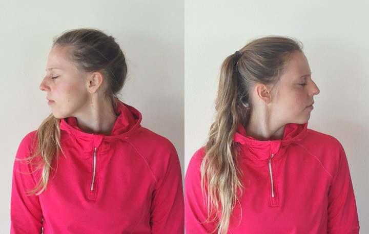 برای جلوگیری از گردن درد از حرکت کشش از گوشه استفاده کنید