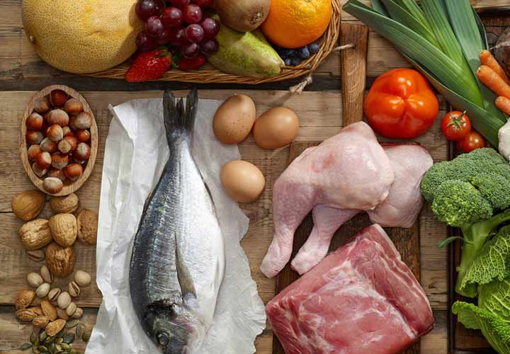 مواد غذایی رژیم پالئو