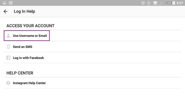 در هنگام فراموش کردن پسورد اینستاگرام با آدرس ایمیل یا نام کاربری می توان آن را یافت - بازیابی پسورد اینستاگرام