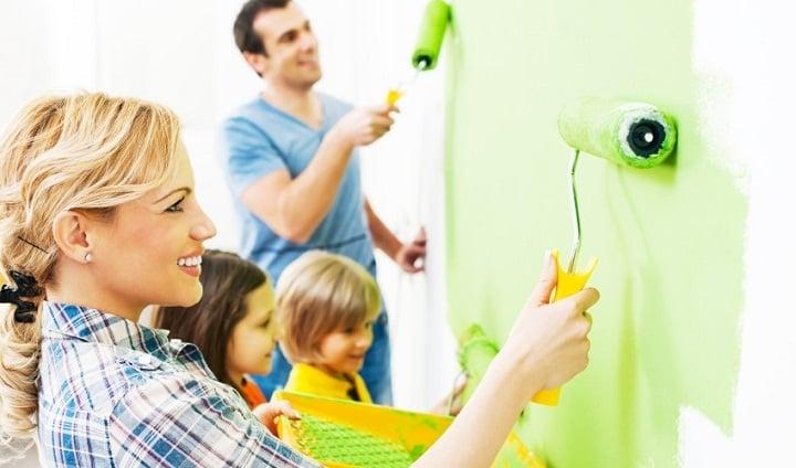 رنگ خانه برای ایجاد فضایی سرزنده