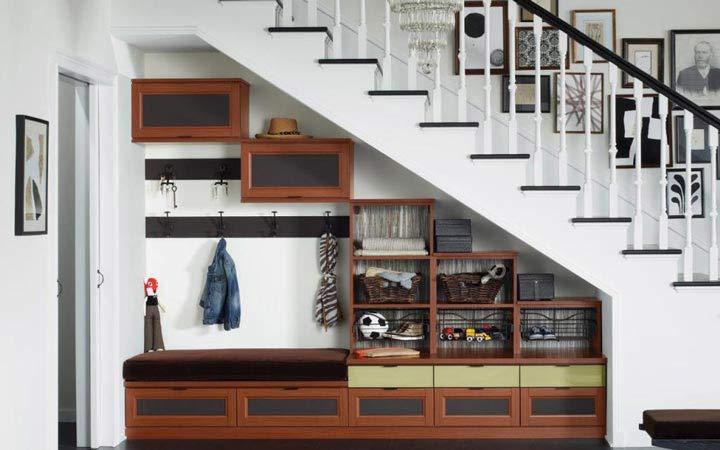 دکوراسیون خانه های کوچک - فضای زیر راهپله