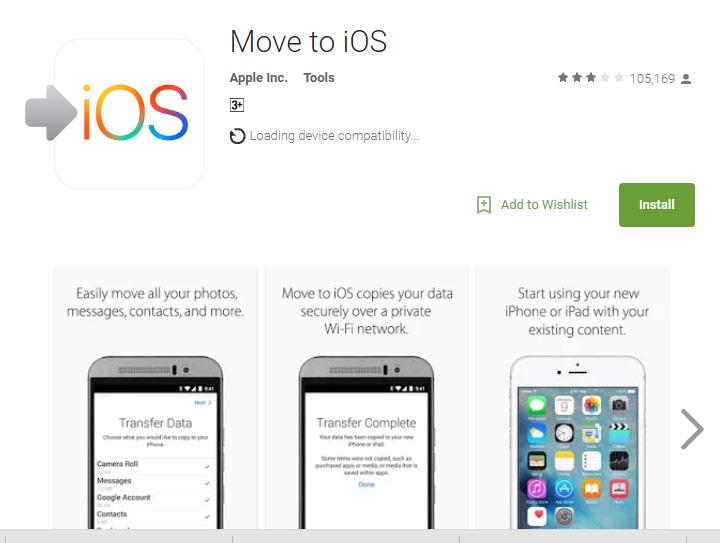 دانلود اپلیکیشن اپلیکیشن Move to iOS برای مهاجرت از اندروید به آیفون