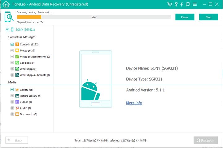 وصل کردن گوشی به سیستم برای ریکاوری اندروید و اطلاعات حافظه داخلی