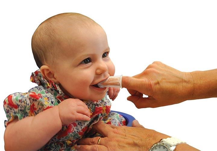 مسواک انگشتی - دندان درآوردن نوزاد