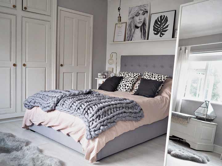 دکوراسیون اتاق خواب با استفاده از بافتنیهای درشت