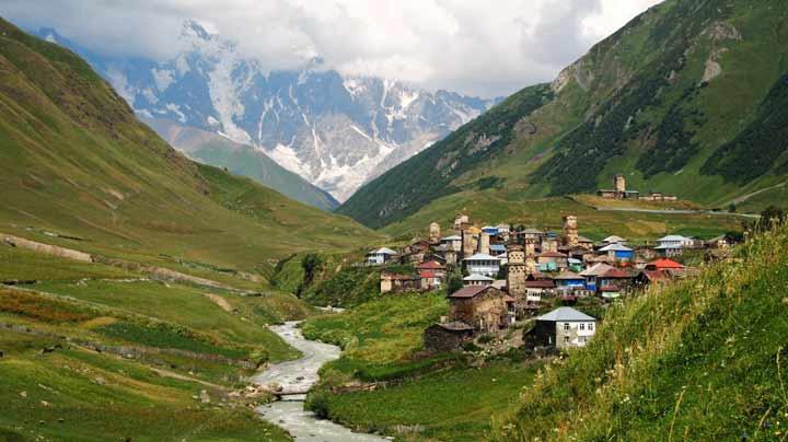 جاهای دیدنی گرجستان اوشگولی و مجموعه روستاهای سوانتی Ushguli & other villages in Svaneti