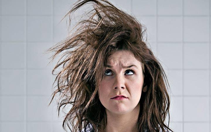 درمان موهای خشک و شکننده - کراتینه کردن مو