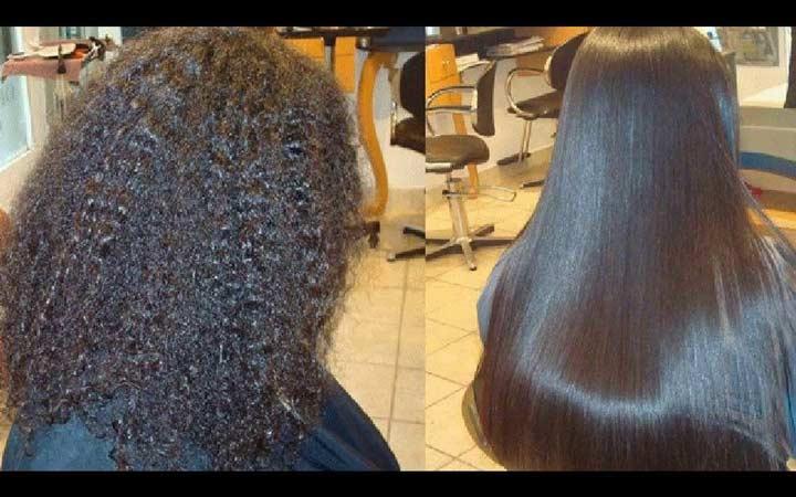 صاف کردن مو - کراتینه کردن مو