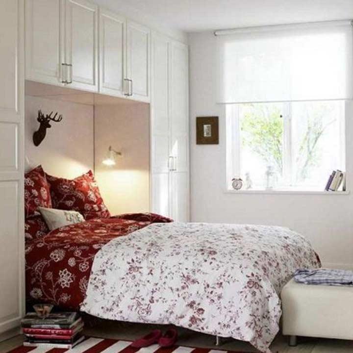 دکوراسیون اتاق خواب کوچک - سفید