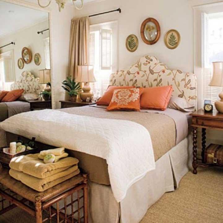 دکوراسیون اتاق خواب کوچک - سبک سنتی انگلیسی