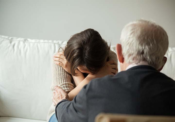 مرد و زن افسرده