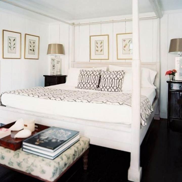دکوراسیون اتاق خواب کوچک - همرنگی دیوارها با تخت