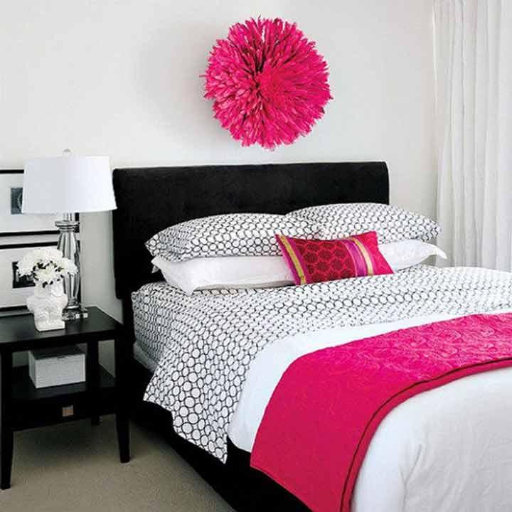 دکوراسیون اتاق خواب کوچک - رنگهای جیغ