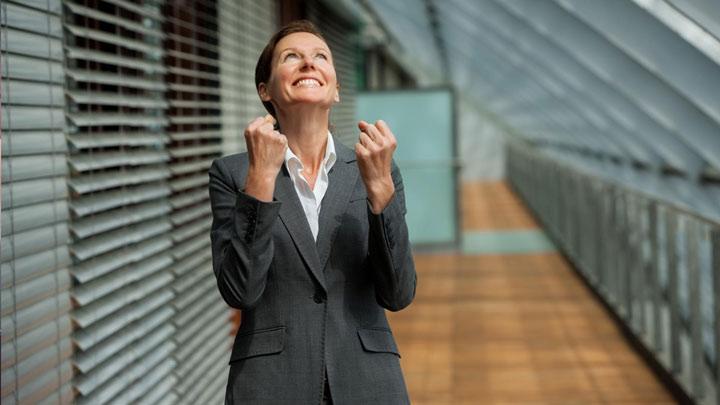 زن موفق و شاد