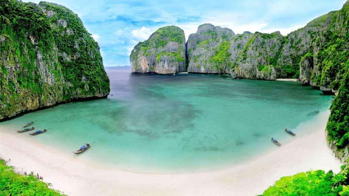 زیباترین سواحل دنیا ، خلیج مایا