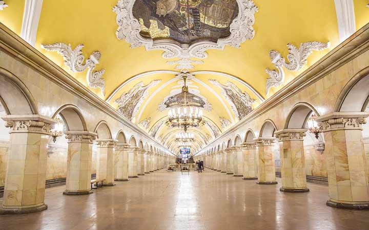 جاهای دیدنی مسکو - متروی مسکو
