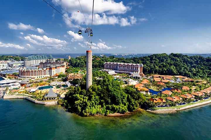 جزیرهی سنتوسا، از جاهای دیدنی سنگاپور