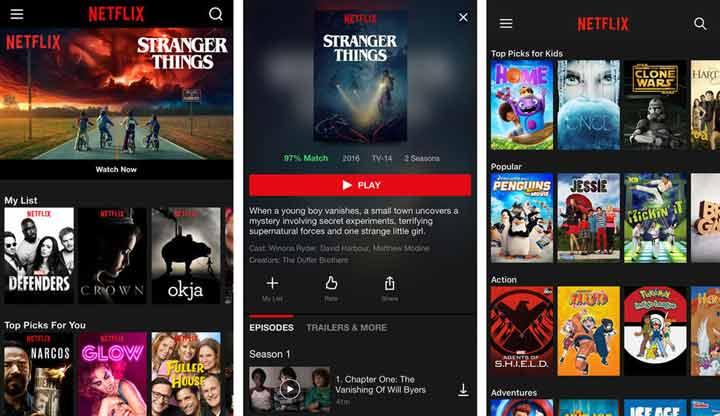 Netflix - بهترین برنامه های آیفون
