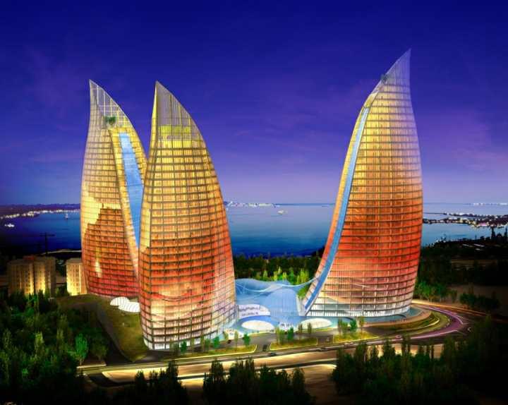 جاهای دیدنی باکو - برج های شعله