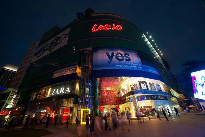 مرکز خرید لات تِن (Lot 10) از مراکز خرید مالزی