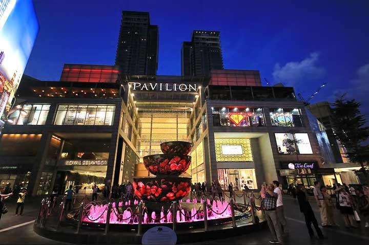 مجتمع تجاری و تفریحی پاویلیون از مراکز خرید مالزی