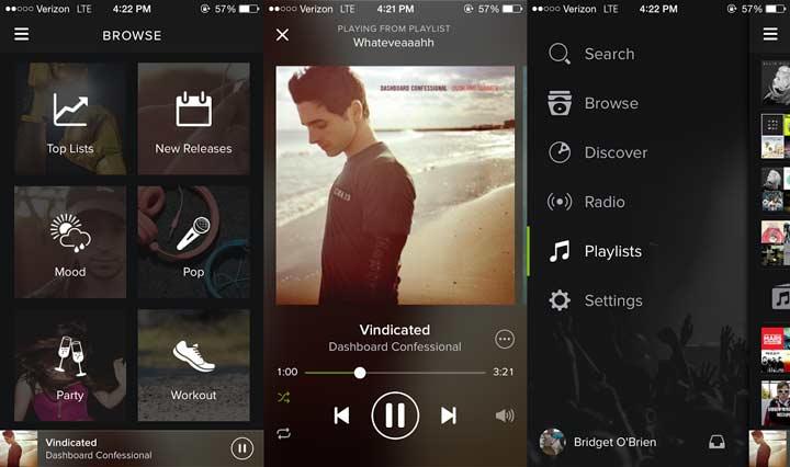Spotify - بهترین برنامه های آیفون