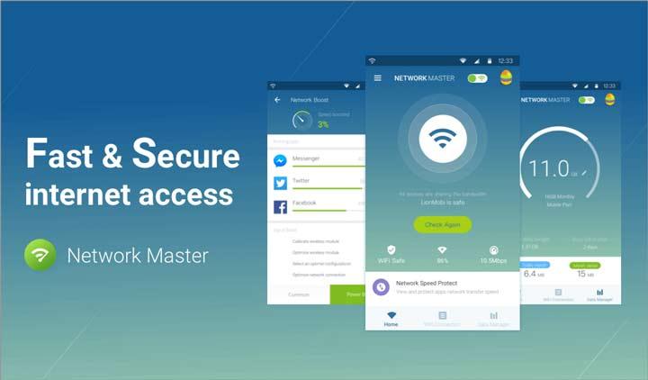 Network Master – Speed Test - افزایش سرعت اینترنت گوشی اندروید