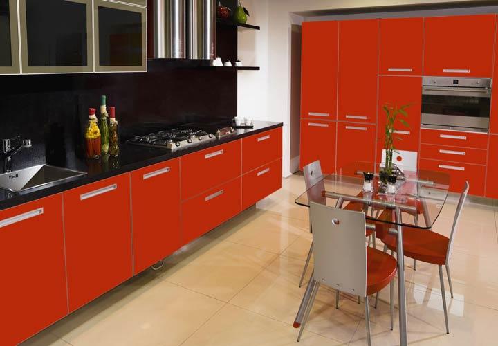 رنگ آشپزخانه - طیفهای قرمز