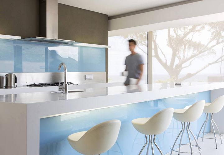 رنگ آشپزخانه - طیفهای آبی