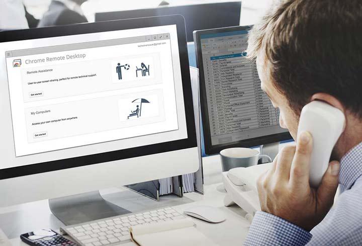 نرمافزار Chrome Remote Desktop - دسترسی به کامپیوتر از راه دور