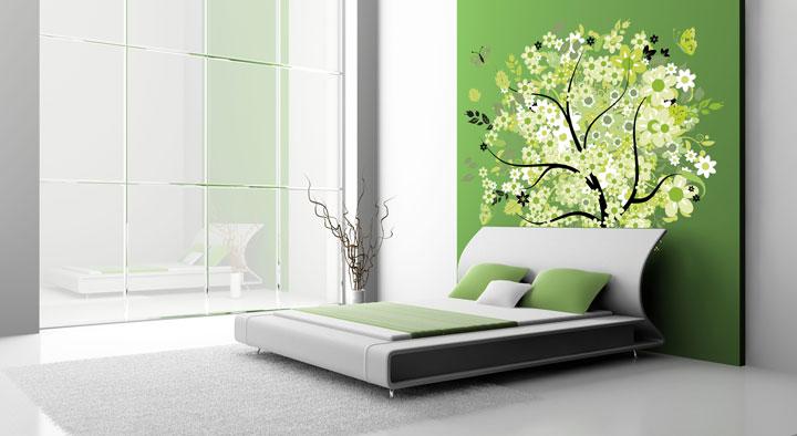 رنگ اتاق خواب - سبز