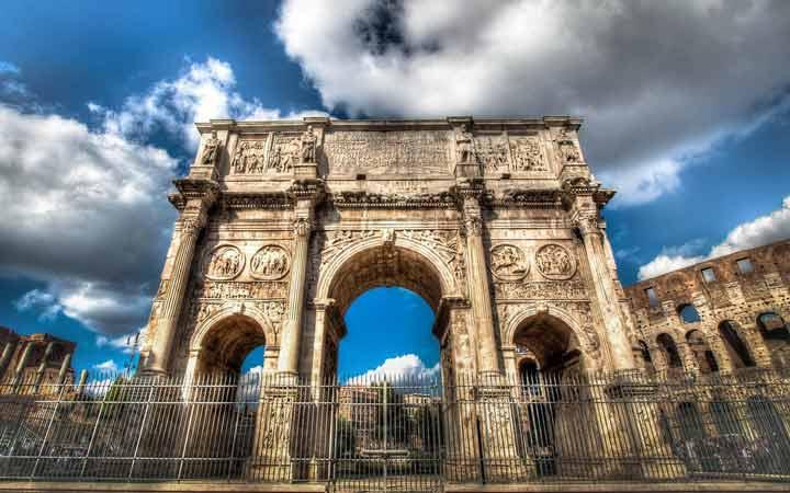 جاهای دیدنی رم - طاق کُنستانتین