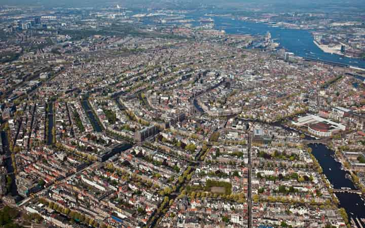 جاهای دیدنی آمستردام - ساختار بادبزنی شهر آمستردام