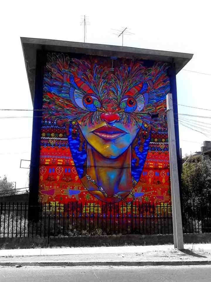 سانتیاگو، گرافیتی۲