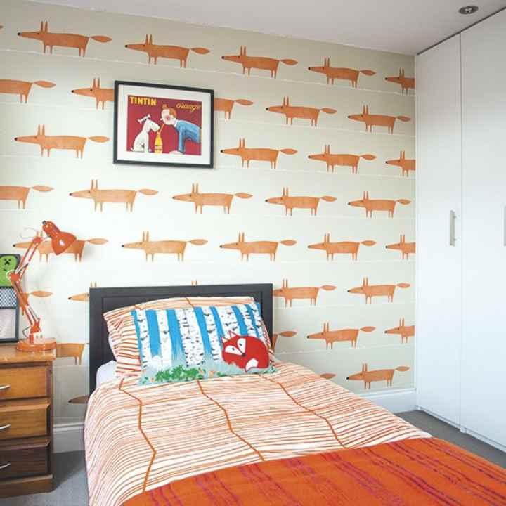 دکوراسیون اتاق خواب پسرانه - کاغذدیواری طرحدار
