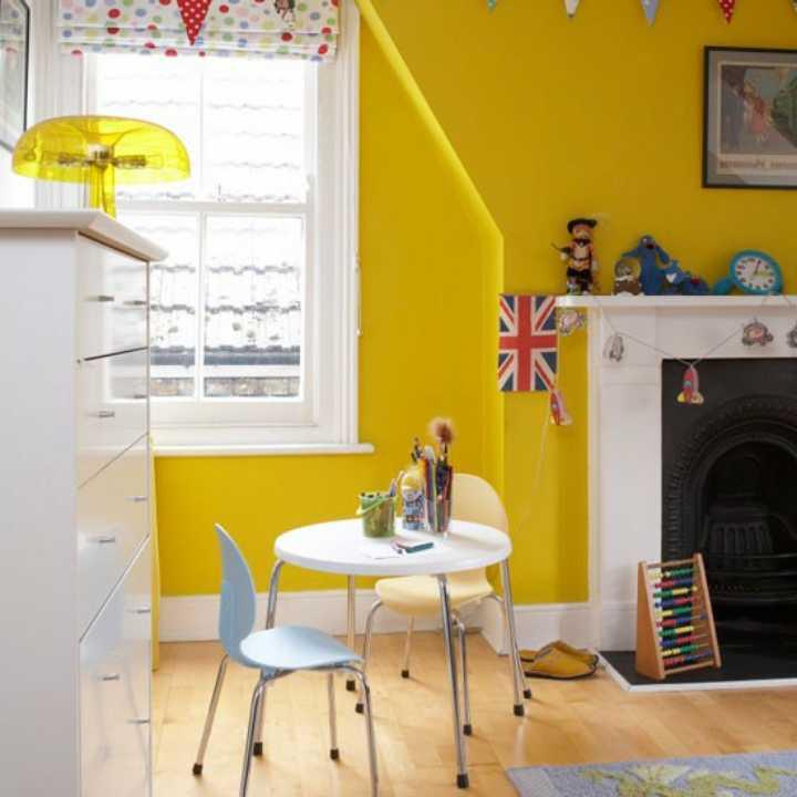 دکوراسیون اتاق خواب پسرانه - استفاده از رنگ زرد