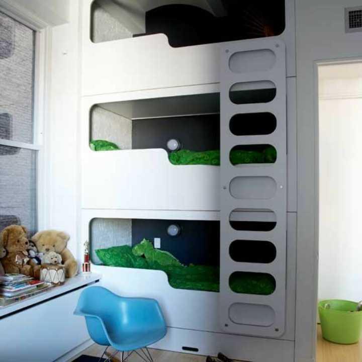 دکوراسیون اتاق خواب پسرانه - استفاده از تخت های مدرن