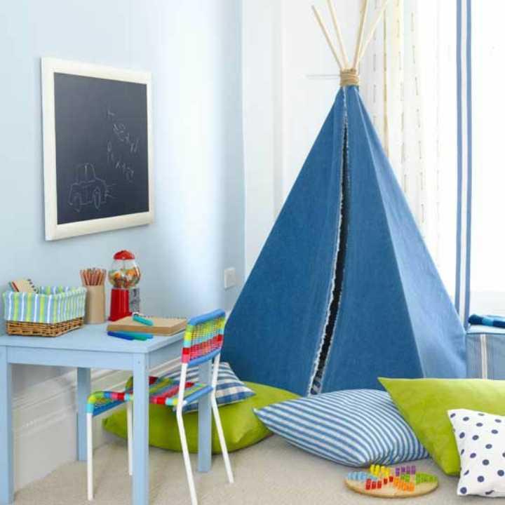 دکوراسیون اتاق خواب پسرانه - چادرهایی بهسبک سرخپوستی