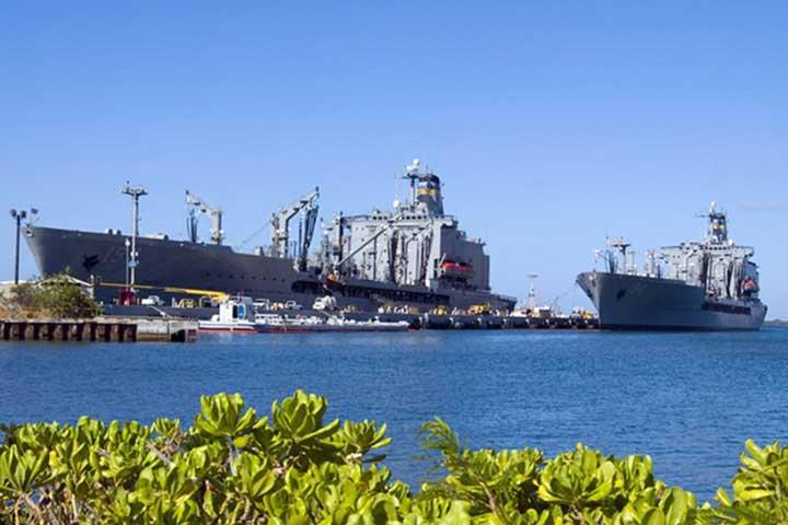 پرل هاربر و یادبود یواساس آریزونا در جزایر هاوایی