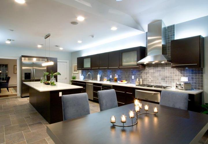 دکوراسیون آشپزخانه مدرن - آشپزخانهای مدرن با تجهیزات لوکس