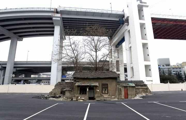 [block]خانه ای قدیمی در پارکینگ نمایشگاه جهانی شانگهای ۲۰۱۰
