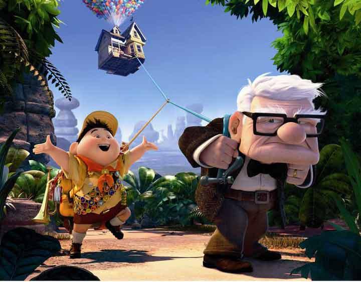 بهترین انیمیشن ها، بالا
