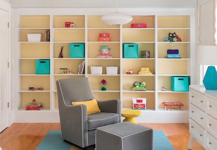 دکوراسیون اتاق نوزاد ـ استفاده از قفسهبندی در اتاق نوزاد
