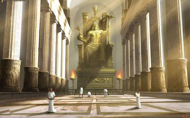 عجایب هفتگانه جهان - مجسمه زئوس در المپیا
