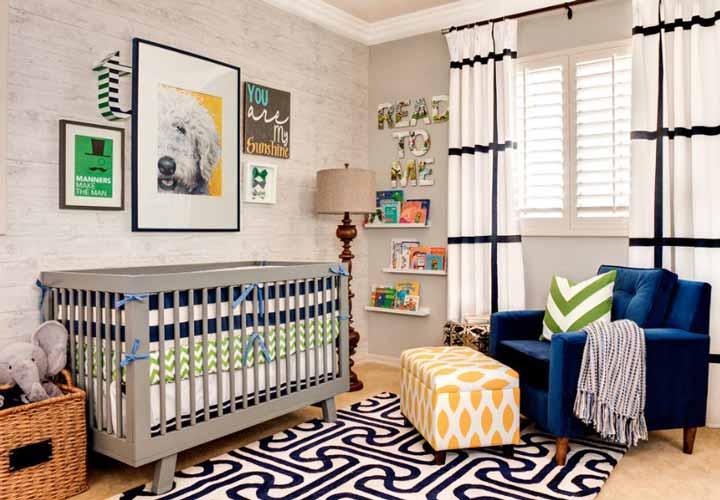 دکوراسیون اتاق نوزاد ـ استفاده از وسایل پُررنگ