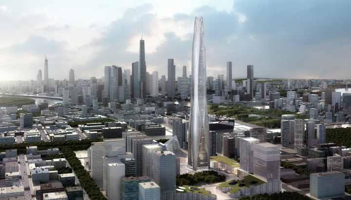 بلندترین برج های جهان - مرکز مالی CTF تیانجین، چین