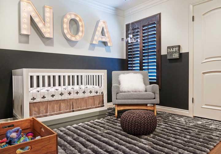 دکوراسیون اتاق نوزاد ـ به کار بردن اسم نوزاد در اتاق