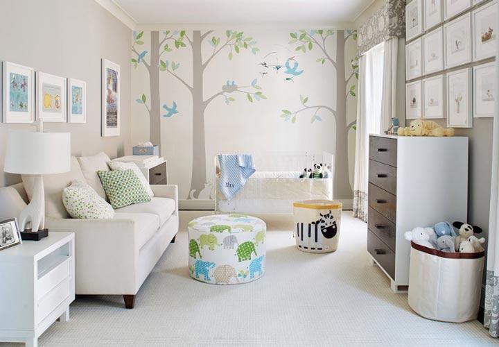 دکوراسیون اتاق نوزاد ـ انتخاب جای مناسب برای بزرگسالان